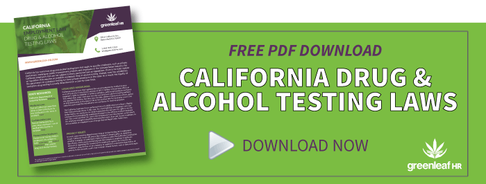 FREE Download: CA Drug and Alcohol Testing Laws PDF